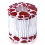 Kerze; Swazi Candle; Form: Pillar L ca. 9cmx9cm; Gewicht: ca. 470g; Farbe: eleganter weisser Bambus eingerahmt von wunderschönem Animalprint